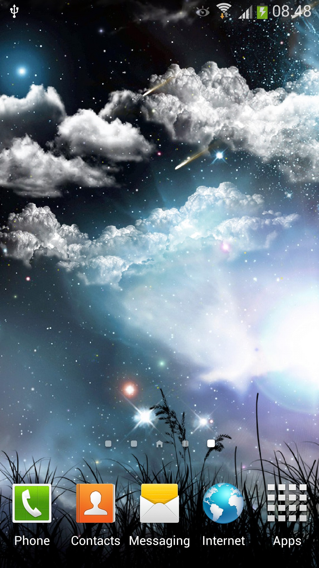 Falling Stars Android Live Wallpaper | Amax Software