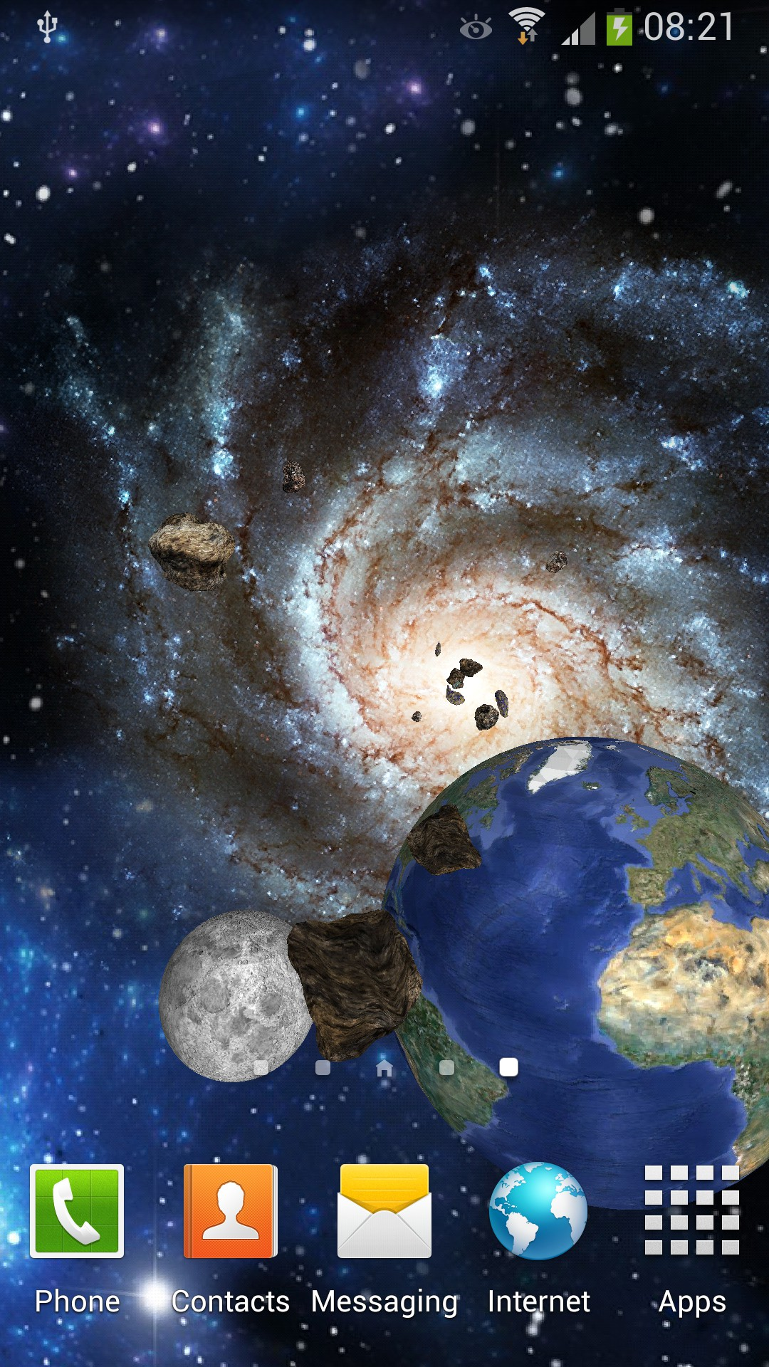 Space 3D Live Wallpaper for Android   Amax Software
