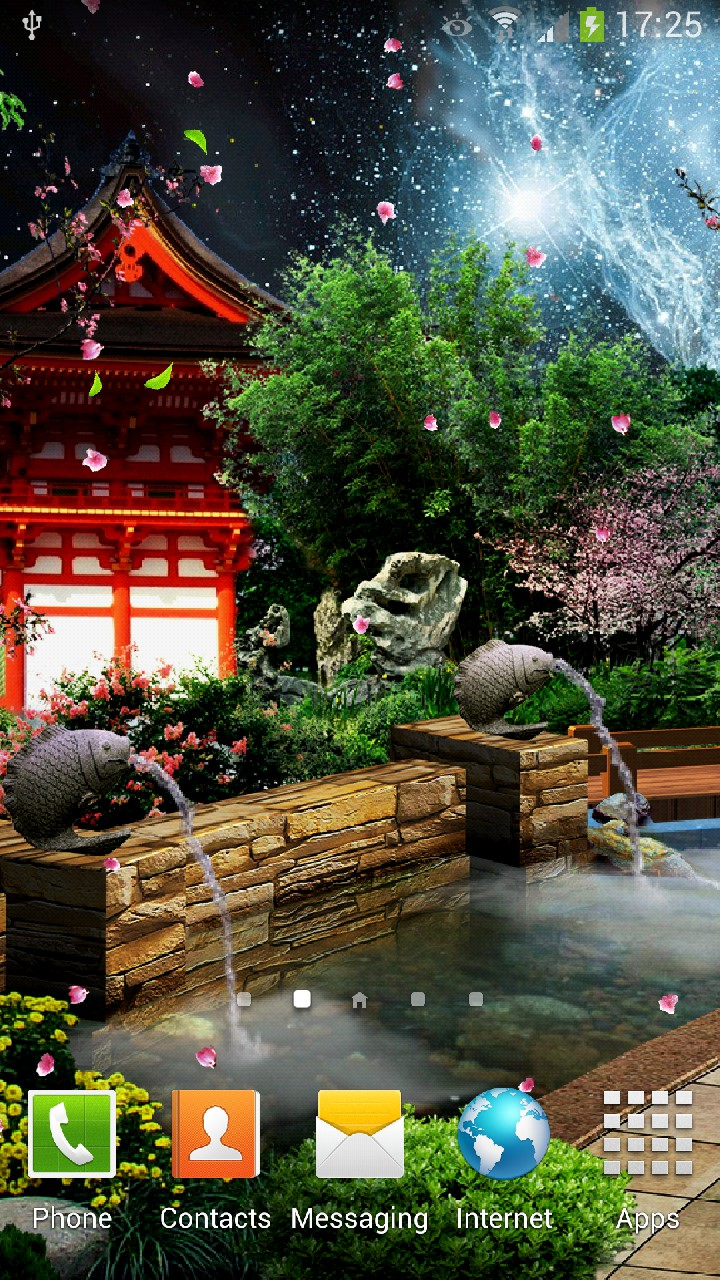 Eastern Garden Android Live Wallpaper Amax Software Description Samsung Galaxy S4 1